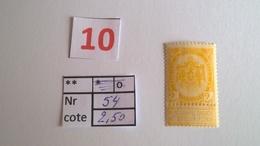 Timbre Ancien Vendu à 20% 54** - 1893-1907 Armoiries