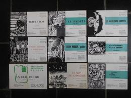 """9 Programmes Salle """"Le Parc"""" Cinéma Charleroi 1964-1965 / Fellini - Orson Welles... - Programma's"""