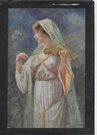 AK 0415  Riesen , Arno V. - Friedensklänge / Künstlerkarte Um 1917 - Malerei & Gemälde