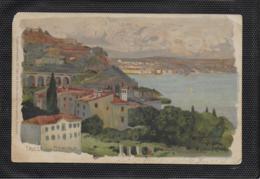 AK 0415  Triest Von Barcola - Künstlerkarte V. Kaovi Frank Um 1899 - Trieste