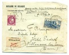 France - COB 376 Et 392 Sur Lettre Chargée De Limoges Vers Villeneuve Sur Tarn 12 Juin 1940 - France
