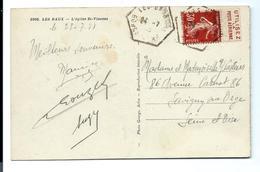 PUB De Carnet SEMEUSE 30 C - Poste Aérienne - Sur Carte 1938 - Usage Courant