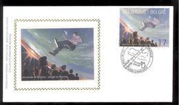 FDC Sur Soie/op Zijde -  B.D. - F. Schuiten - Navigation Spatiale - Timbre N°2786 -  FDC 1998 - Oblitération Charleroi - FDC