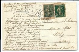 2 Timbres De Carnets - Sur Carte 1920 - Libretas
