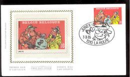 FDC Sur Soie/op Zijde -  B.D. - Sammy - Timbre N°2619 -  FDC 1995 - Oblitération La Hulpe - FDC