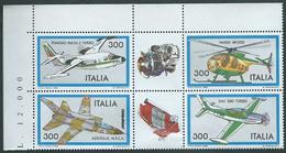 Italia 1982 Costruzioni Aeronautiche Italiane, 2° Serie. Completa, Di Angolo Superiore Sinistro + Prezzo. - 6. 1946-.. Repubblica