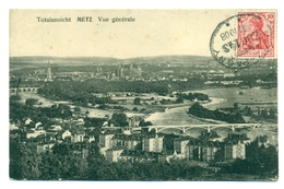Allemagne/France - Carte Vue De Metz Avec Ambulant Metz-Pagny - Zug 143   1908 - Allemagne