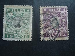 DENMARK  USED  STAMPS  JULEP 1904 & 1906  2 SCAN - Danemark