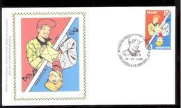 FDC Sur Soie/op Zijde -  B.D. - Ric Hochet - Timbre N°2785 -  FDC 1998 - Oblitération Kappelle-op-den-Bos - FDC