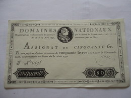 Monnaie - Assignats