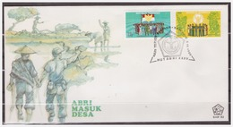 Indonesia 1980 FDC SHP 82 35 Year Forces Soldier Flag - Indonesia