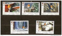 Ile De Man 2004 Yvertn° 1199-1203 *** MNH Cote 11,00 Euro Faune Oiseaux Noel Kerstmis - Man (Ile De)