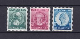 Franz. Zone - Württemberg - 1949 - Michel Nr. 44/46 - Postfrisch - 32 Euro - Französische Zone