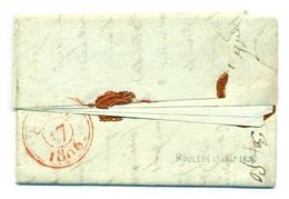 Belgique - Précurseur  Pli De Roulers à Paris  91 Menen  1806 - 1794-1814 (Periodo Frances)