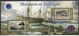 Ile De Man 2005 Yvertn° Bloc 58 *** MNH Cote 10 Euro Bataille De Trafalgar - Man (Ile De)