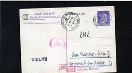 CG6 - Germania - Cartolina Postale - Annullo Di Munchen 18/4/1944 Per Rep. San Marino - Germany