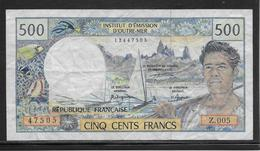 Territoires Du Pacifique. - 500 Francs - Pick N°1 - TTB - Andere - Oceanië