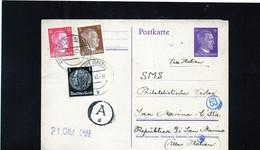 CG6 - Germania - Cartolina Postale - Annullo Di Konigshutte Del 6/6/1943  Per Rep. San Marino - Germany