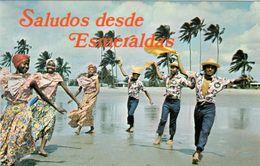 1 AK Ecuador * Esmeraldas Folkloregruppe - Dancing At The Atacames Beach * - Ecuador