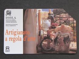 ITALIA - 3345 C&C 254 GOLDEN - PRIVATE PUBBLICHE - ISOLA ARTIGIANATO SARDO - USATA - Italië