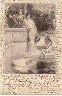 FEMMES 892 : Précurseur Femme Au Bord D Un Bassin Avec Un Cygne ( Pas De Légende ) - Vrouwen