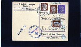 CG6 - Germania - Cartolina Postale - Annullo Di Halle 8/4/1943 Per Rep. San Marino - Germany