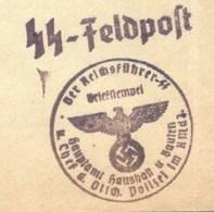 """B6 -BERLIN - Tampon DER REICHSFÜHRER SS - Briefstempel - Hauptamt Hausalt U Bauten - D. CHEF.D. DTFCH. POLIZEI IM RMDJ """" - Germania"""