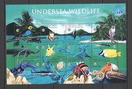 C076 1998 DJIBOUTI FISH MARINE UNDERSEA WILDLIFE #648-59 MICHEL 16 EURO SH MNH - Vie Marine