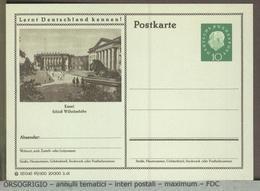 GERMANIA - Cartolina Intero Postale - GANZSACHEN - POSTKARTE  - KASSEL  WILHELMSHOHE  -  LEONE  LION - Felini