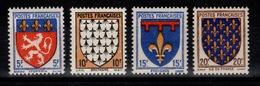 YV 572 à 575 N** Armoiries Cote 5,50 Euros - France