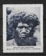 "NOUVELLES HEBRIDES - VIGNETTE GOMMEES 60 X 75 Mm ""RICHESSES COLONIALES"" ! CANNIBALE ! - Other"
