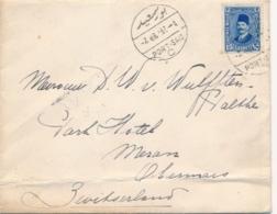 Egypt - 1928 - 15 Mills Op Scheeps-envelop S.S. Patria Rotterdamsche Lloyd Van Port Said Naar Merano - Indes Néerlandaises