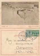 Nederlands Indië - 1929 - Lloyd-brief Van S.S. Patria Van Postagent Rotterdam-Batavia Naar Overveen - Indes Néerlandaises