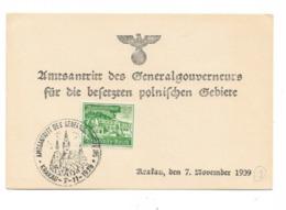 Sammlerkarte Generalgouvernement 1939 - Occupation 1938-45