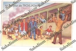 TROIS PONTS - La Gare - Treno Train - Trois-Ponts
