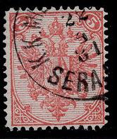 "BOSNIA-AUSTRIA, ""COAT OF ARMS"" 1st PLATE 5 Kr MIXED PERFORATION 12 : 13 RARE!!!!!!!!!!! - 1850-1918 Empire"