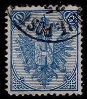 "BOSNIA-AUSTRIA, ""COAT OF ARMS"" 1st PLATE 10 Kr MIXED PERFORATION 12 : 13 RARE!!!!!!!!!!! - 1850-1918 Empire"
