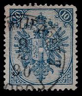 "BOSNIA-AUSTRIA, ""COAT OF ARMS"" 1st PLATE 10 Kr MIXED PERFORATION 12 ½ : 13 RARE!!!!!!!!!!! - 1850-1918 Empire"