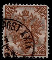 "BOSNIA-AUSTRIA, ""COAT OF ARMS"" 1st PLATE 15 Kr MIXED PERFORATION 12 ½ : 13 RARE!!!!!!!!!!! - 1850-1918 Empire"
