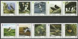 Île De Man 2006 Yvertn° 1300-1309 *** MNH Cote 13,75 Euro Faune Oiseaux Vogels Birds - Man (Ile De)