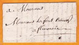 """1738 - Lettre Avec Correspondance De 2 P. De Fleurance, Gers En Ville - """"payez Moi, Je Suis Malade"""" - Règne De Louis XV - 1701-1800: Precursores XVIII"""