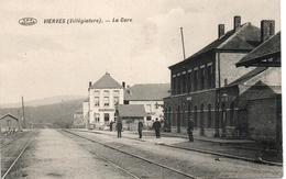 VIERVES La GARE Du Train. Prés De Treignes, Dourbes Et Olloy. Feldpost  De 1915. - Autres