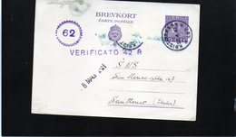 CG6 -  Svezia - Cartolina Postale - Annullo Di Kristinehann 27/4/1943 Per Rep. San Marino - Postal Stationery
