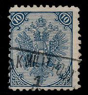 "BOSNIA-AUSTRIA, ""COAT OF ARMS"" 2nd PLATE 10 Kr TYPICAL ERROR ""+"" 10 ½ RARE!!!!!!!!!!! - 1850-1918 Empire"