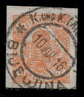 BOSNIA-AUSTRIA-HUNGARY, HUNGARIAN IMPERFORATE NEWSPAPER STAMP, USED IN BOSNIA 1916 RARE!!! - 1850-1918 Empire
