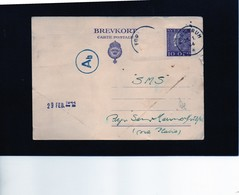 CG6 -  Svezia - Cartolina Postale - Annullo Di Forserum 25/1/1944 Per Rep. San Marino - Postal Stationery