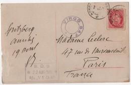 NORWAY Spitzbergen Cachet Nordlands Posteksp Virgo Bay Paquebot B D S 2 Aout 1912 D/s VEGA - Norwegen