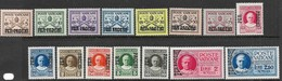 Vatican  1931   Sc#Q1-15   Parcel Post Set  Of 15  MH   2020 Scott Value $47.50  Most Are MLH. - Parcel Post