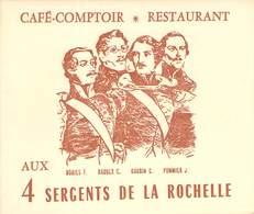 """CPA / CARTE DE VISITE / Livret  FRANCE 75004 """"Paris, Café  Restaurant 4 Sergents De La Rochelle, Bld Beaumarchais"""" - Arrondissement: 04"""
