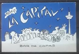 MADRID. LA CAPITAL. BAR DE COPAS. - Tarjetas De Visita